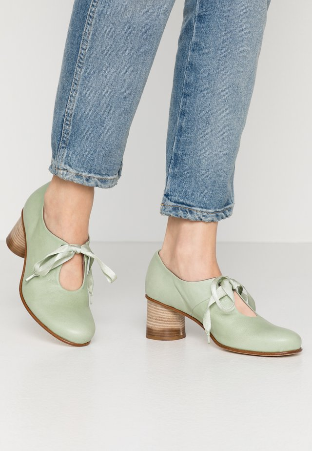 ASTRID - Lace-up heels - twister pesto