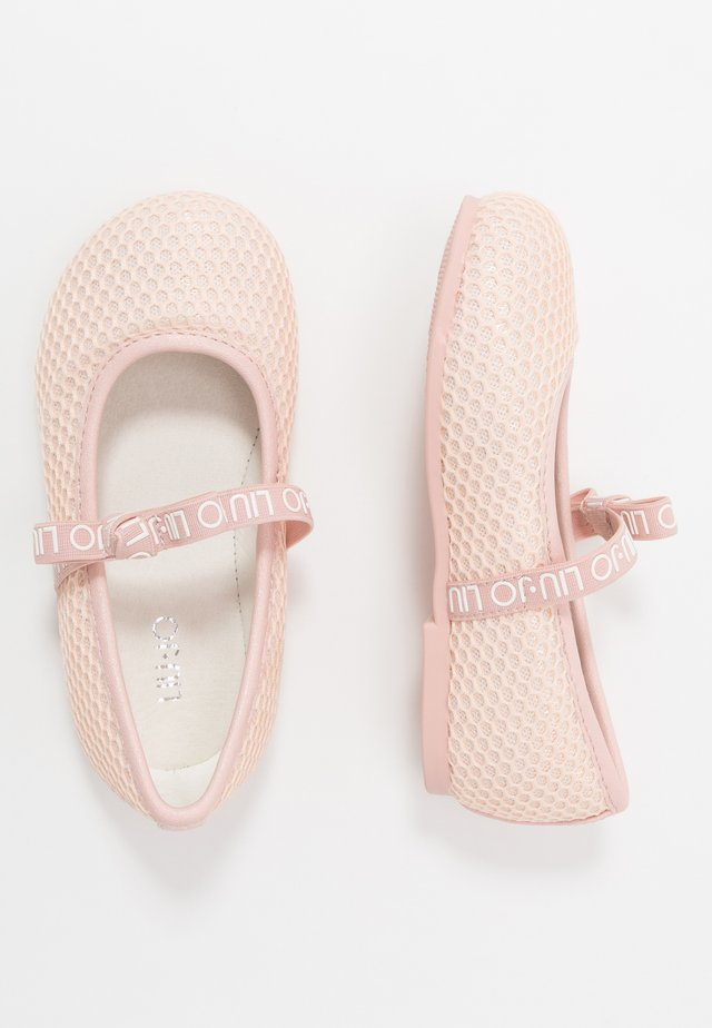 AUDRINE - Ankle strap ballet pumps - light pink