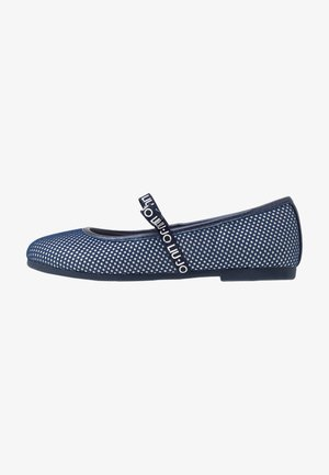 AUDRINE - Ankle strap ballet pumps - blue