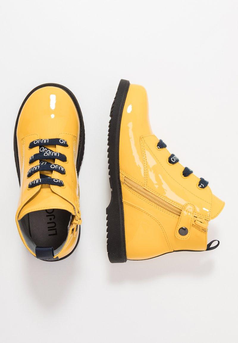 LIU JO - PAT BIKERS - Snørestøvletter - yellow