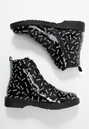 PAT BIKERS - Bottines à lacets - black