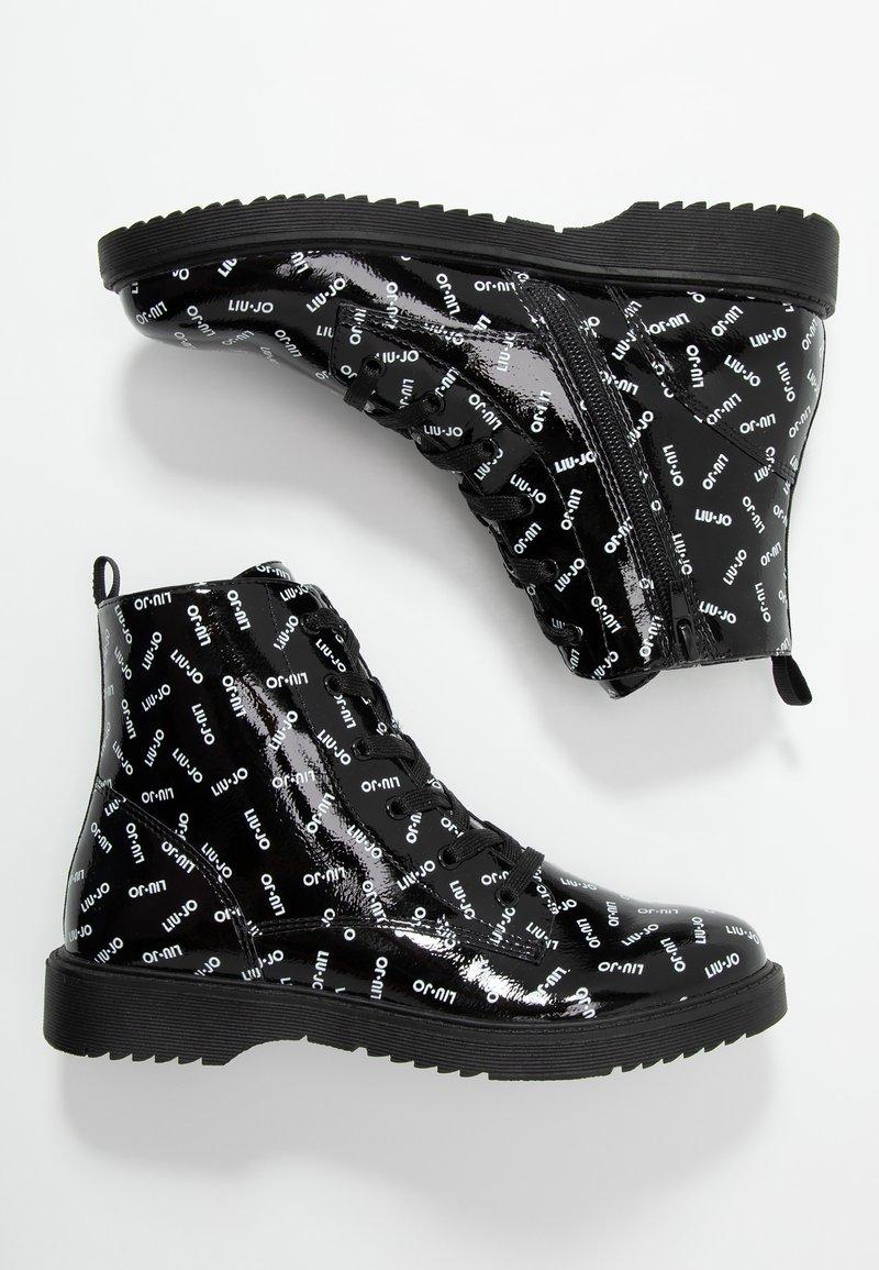 LIU JO - PAT BIKERS - Šněrovací kotníkové boty - black