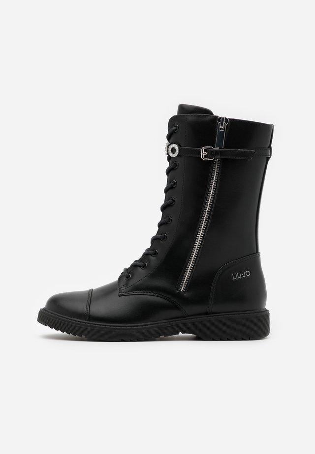 PAT  - Bottines à lacets - black
