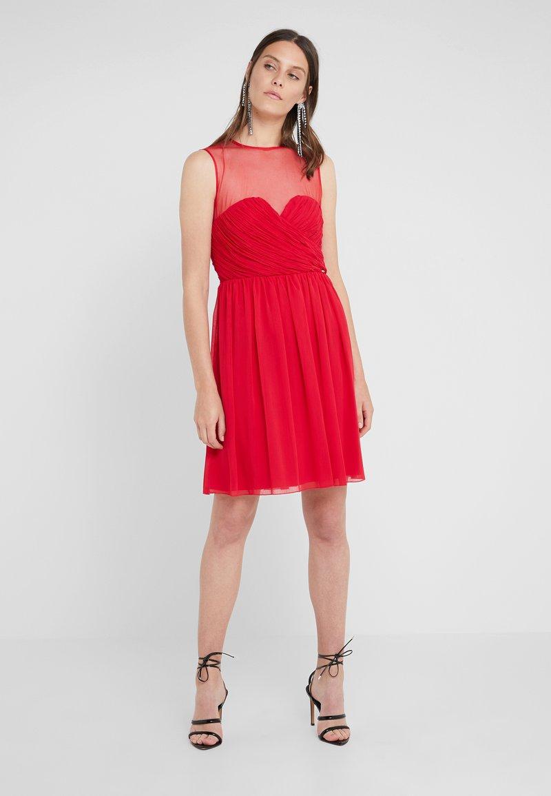 LIU JO - ABITO DRAPE  - Cocktail dress / Party dress - dark scarlet