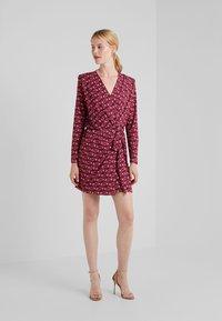 LIU JO - ABITO  - Jersey dress - ruby wine monogram - 1