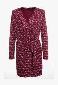 LIU JO - ABITO  - Jersey dress - ruby wine monogram - 4