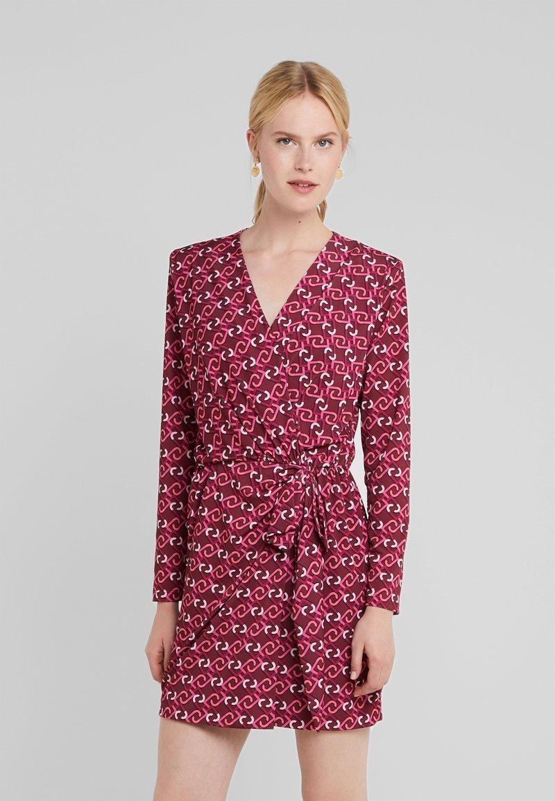 LIU JO - ABITO  - Jersey dress - ruby wine monogram