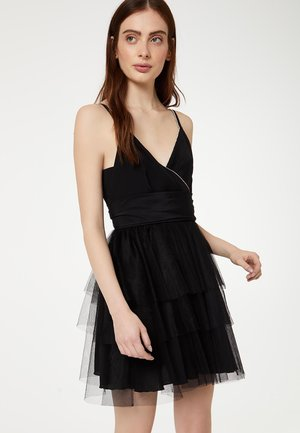 SHORT TULLE - Vestido informal - black