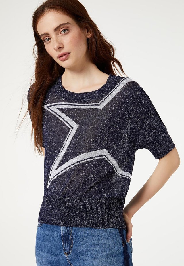 WITH STAR - T-shirt imprimé - blue