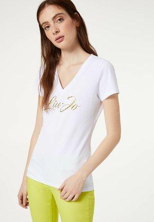 WITH APPLIQUéS - Camiseta estampada - white