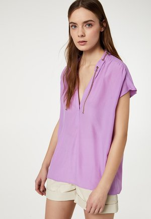 WITH METAL CHAIN - Blusa - lilac
