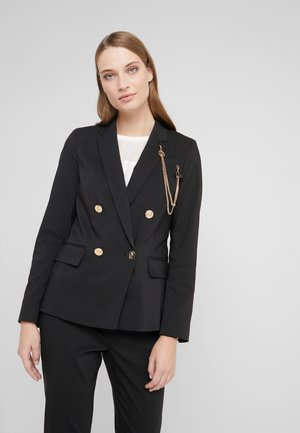 GIACCA DOUBLE BREAST - Blazer - nero
