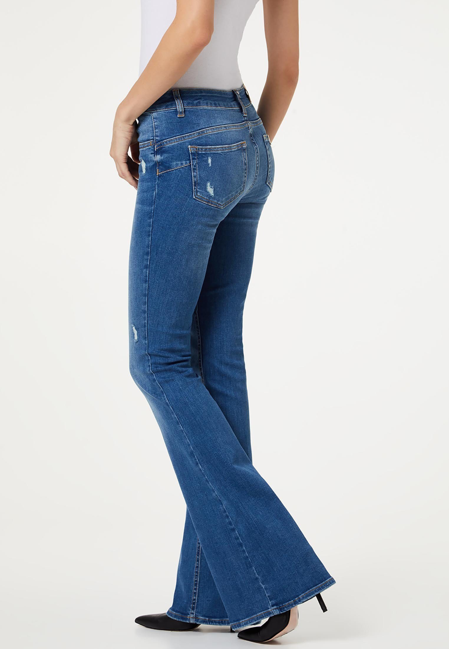 LIU JO BELL BOTTOM - Jeansy Dzwony - blue denim