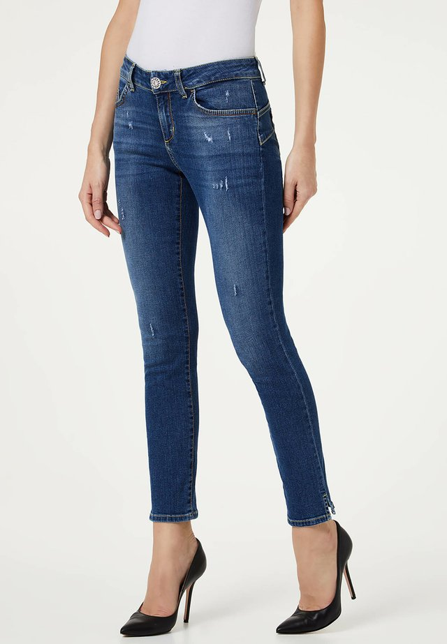 WITH SLIT - Jeans Skinny Fit - blue