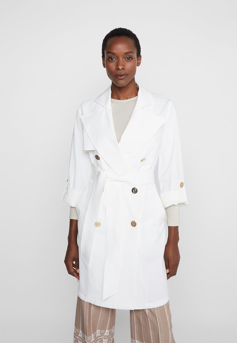 LIU JO - TRENCH - Gabardina - star white