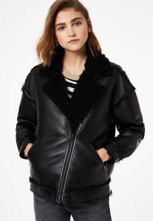 LIU JO JEANS - Faux leather jacket - black