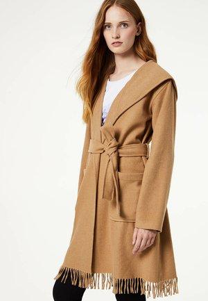 Płaszcz wełniany /Płaszcz klasyczny - brown
