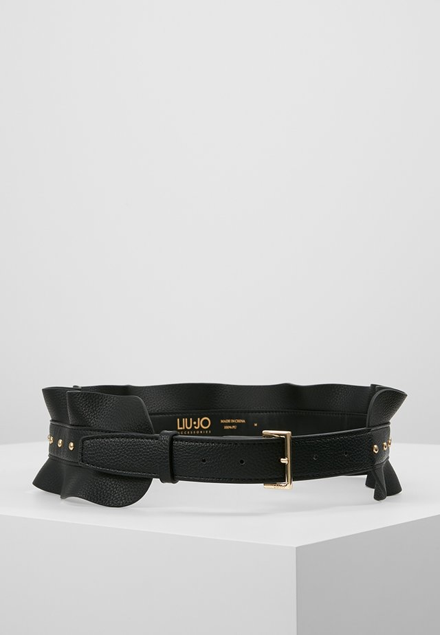 CINTURA VOLANT BORCHIE - Waist belt - nero