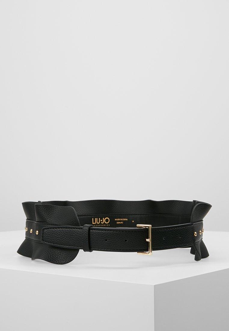 LIU JO - CINTURA VOLANT BORCHIE - Waist belt - nero