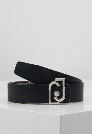 CINTURA REVERSIBILE H LOGO - Cinturón - black
