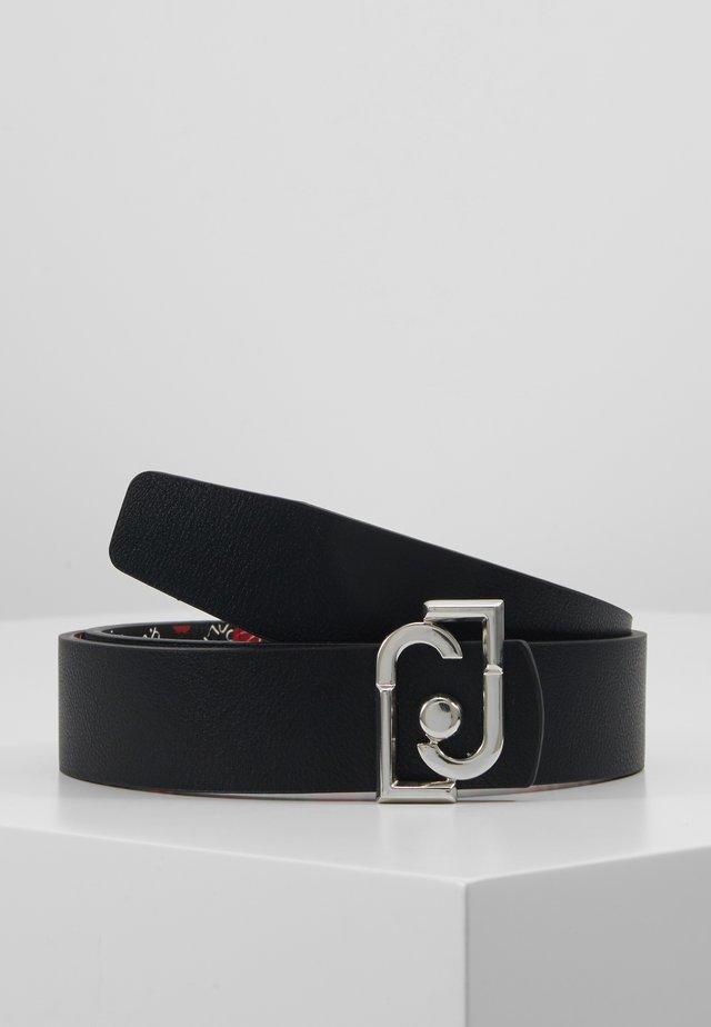 CINTURA REVERSIBILE H LOGO - Belte - black