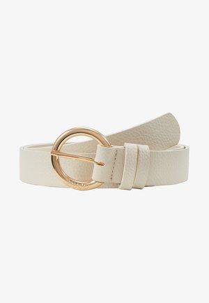 CINTURA FIBBIA TONDA ALABASTER - Belt - white