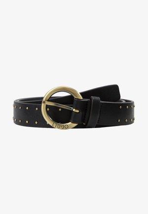 CINTURA FIBBIA TONDA - Belt - black