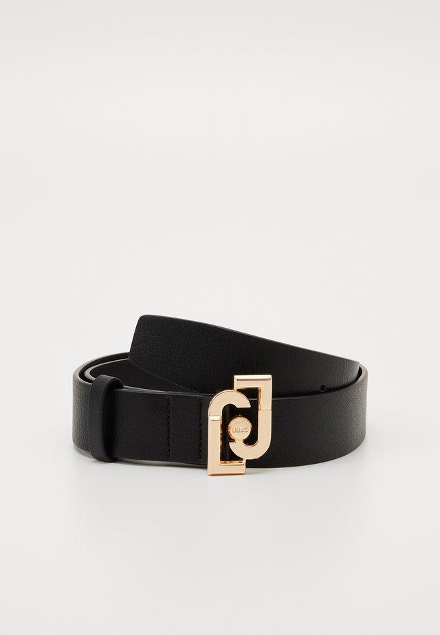 CINTURA LOGO BUCKLE - Belt - nero