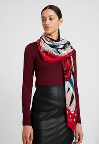 LIU JO - FOULARD FLOWERZEBRA FEEL ROUGE - Foulard - red - 0