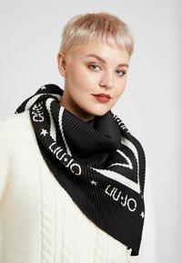 LIU JO - FOULARD PLISSE - Foulard - black - 0