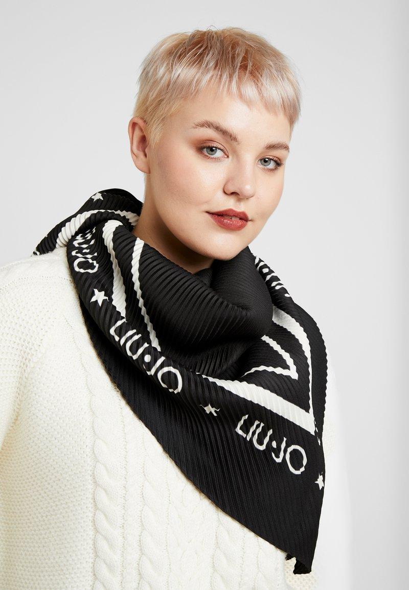 LIU JO - FOULARD PLISSE - Foulard - black