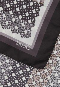LIU JO - LOGO STRIPE - Foulard - black - 3