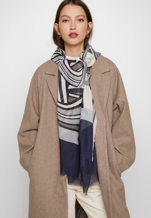 STOLA LOGO STRIPES MIDNIGHT - Scarf - navy