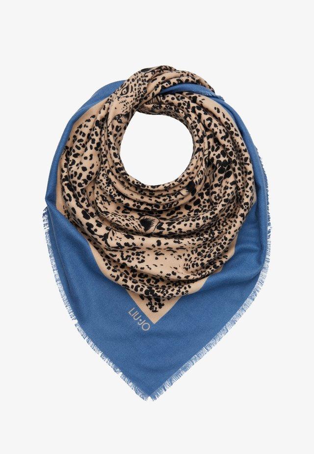FOULARD GARZATO PENOMBRE MACULA COLO - Foulard - blue/beige