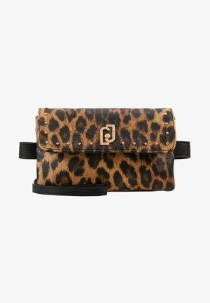 BELT BAG LEOPARDO - Sac banane - marrone