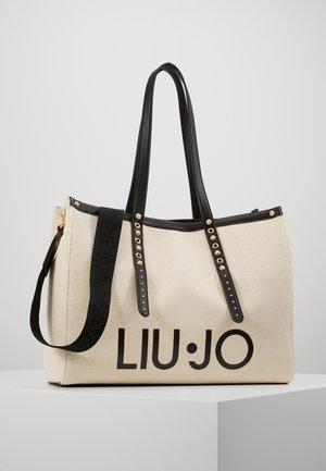 L TOTE BIANCO LANA - Bolso shopping - ivory