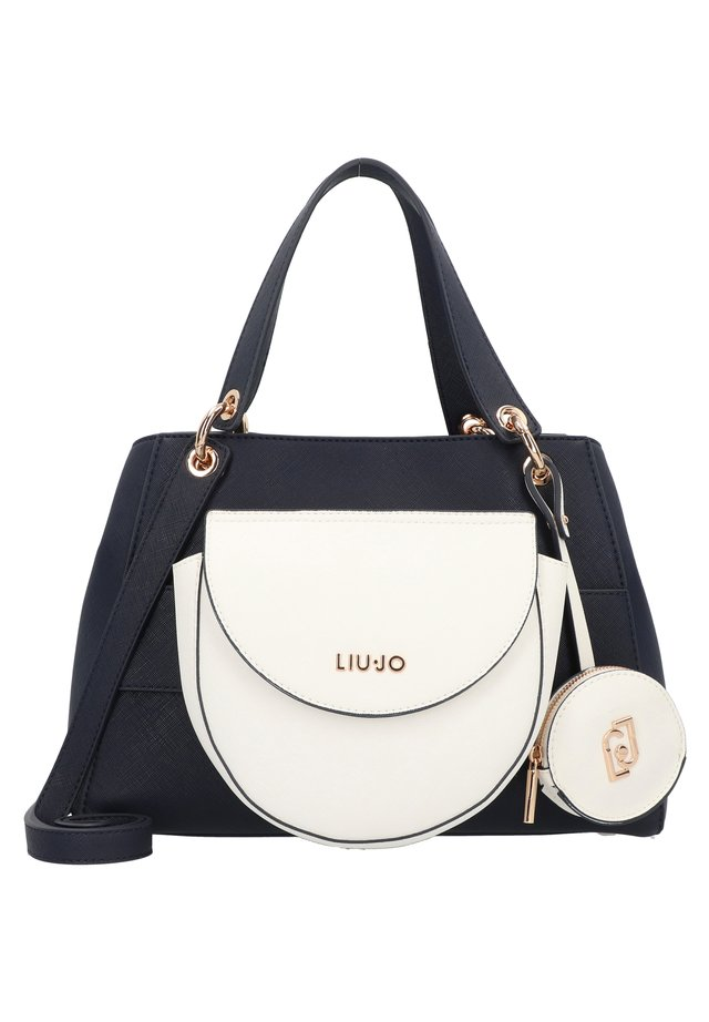 BOSTON  - Handbag - midnight bianco lana