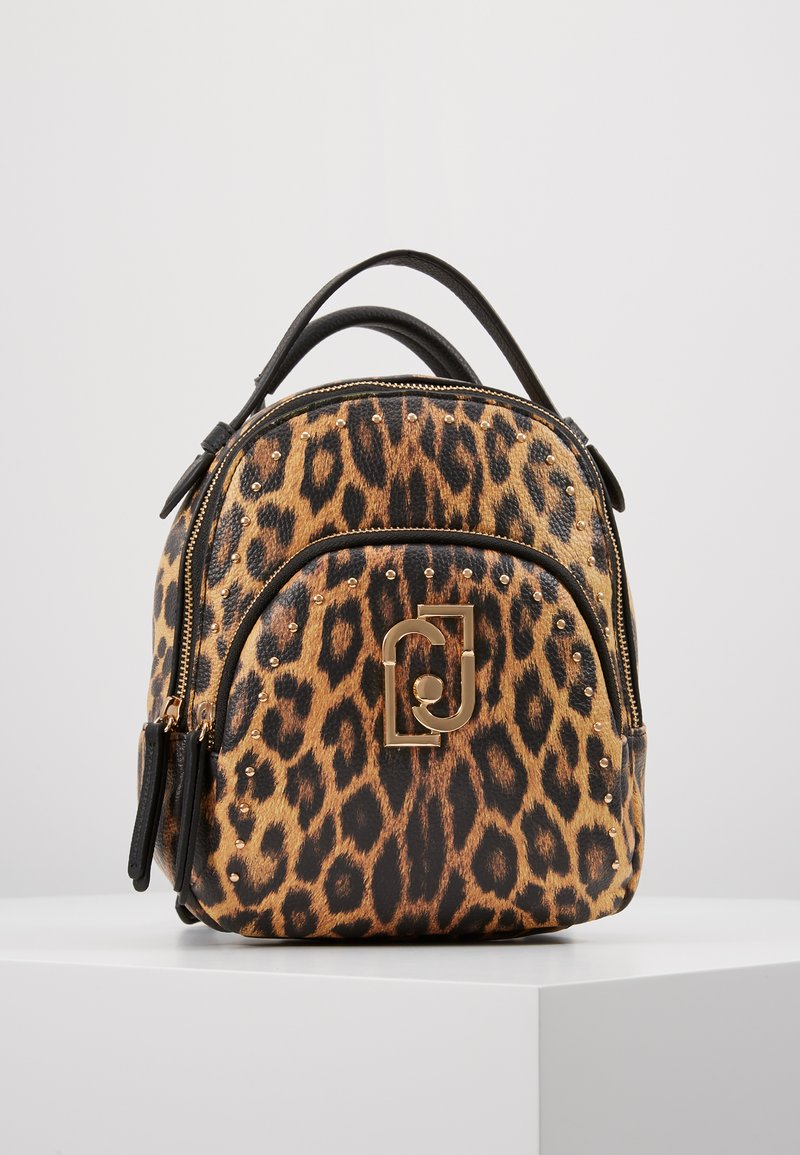 LIU JO - BACKPACK LEOPARDO - Sac à dos - marrone