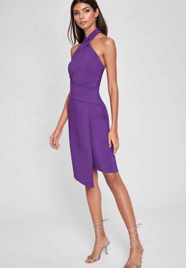 TWIST NECK - Shift dress - purple
