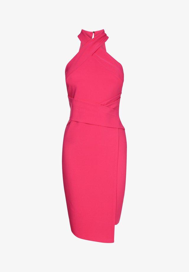 TWIST NECK - Etui-jurk - pink