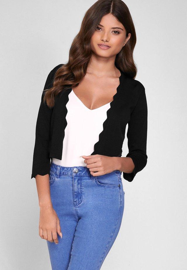 SCALLOP SHRUG - Vest - black