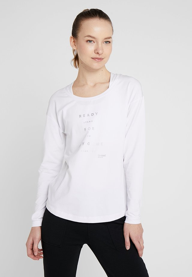 LONGSLEEVE LAURA - Long sleeved top - white