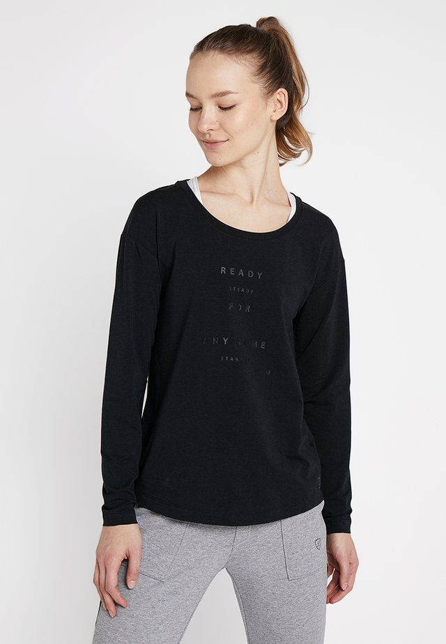 LONGSLEEVE LAURA - Pitkähihainen paita - black