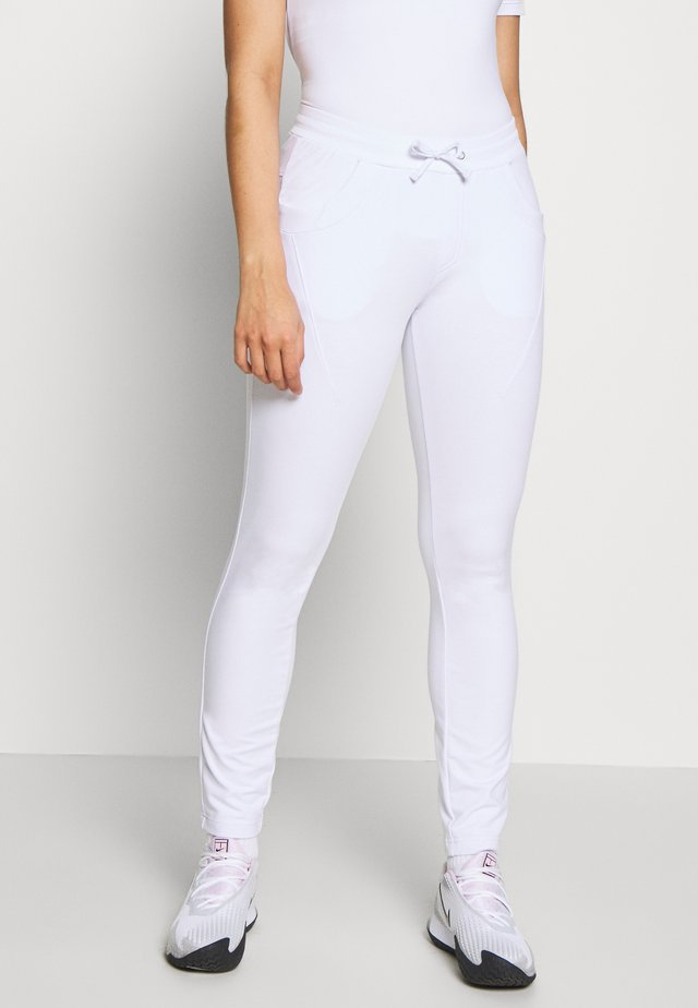 SAMY - Tracksuit bottoms - white