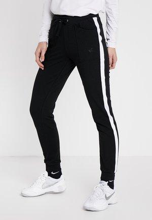 SWEATPANT SAMU - Pantalones deportivos - black/white