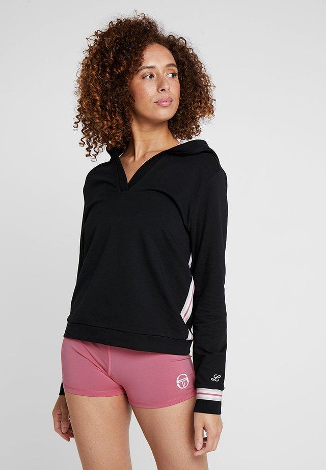 SARIA - Jersey con capucha - black