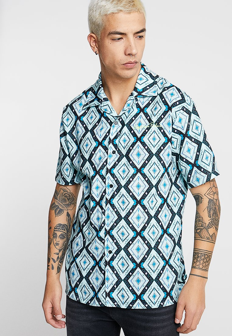 Liquor N Poker - SHIRT IN ATZEC - Hemd - teale aztec