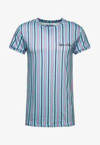 Liquor N Poker - MUSCLE CANDY STRIPE  - T-Shirt print - lilac/lime - 3