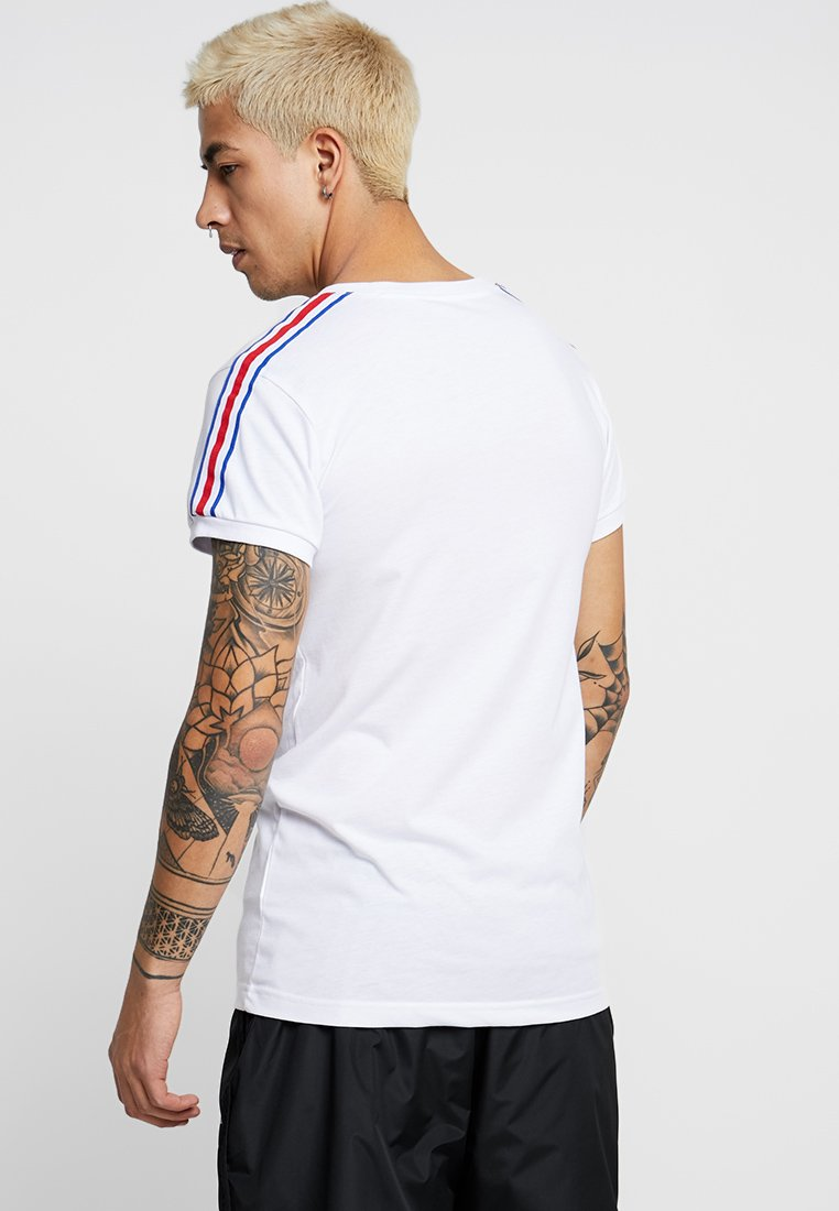 Liquor N Poker - MUSCLE FIT WITH STRIPE - T-Shirt print - white
