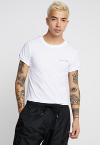 Liquor N Poker - MUSCLE FIT WITH STRIPE - T-Shirt print - white - 2